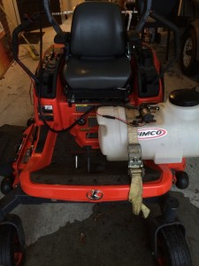 Zero turn mower sprayer? Yes, it is!