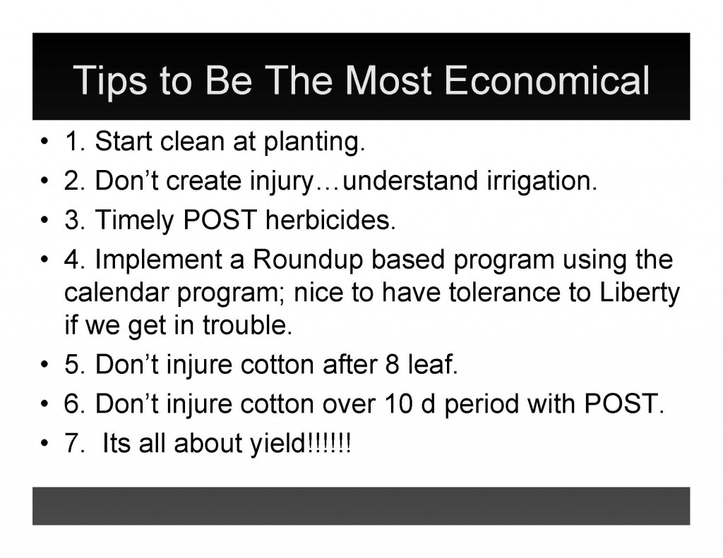 2016 cotton weed control tips to be most economical