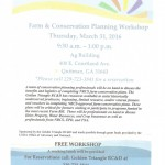 farm and conservation workshop flyer