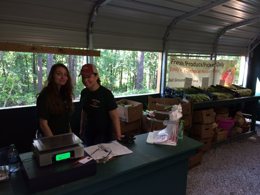 Kirstie Richards (left) and Melissa Driskell (right) work at Emily's during the summer and greet all visitors with a smile and wonderful service.