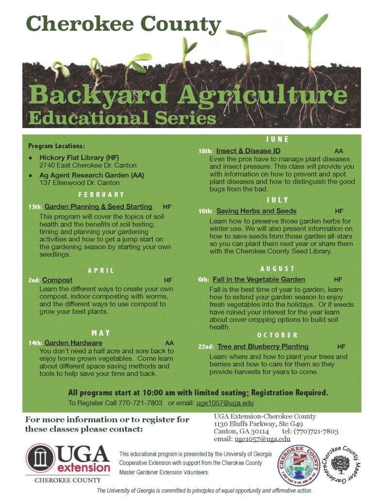Backyard Ag flier