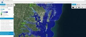 sea level rise viewer screen shot
