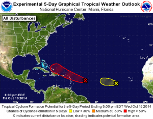 5 day tropical outlook 10-10-2014