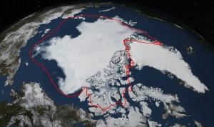 September 2014 sea ice extent.  Source: NASA.