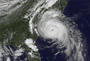 Hurricane Arthur July 3, 2014.  Source: NOAA