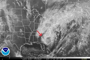 Source: Satellite picture from NOAA