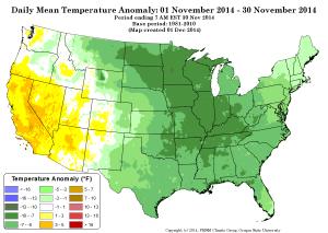 november 2014 temp anomaly