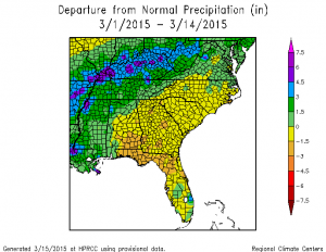 march 2015 precip to date