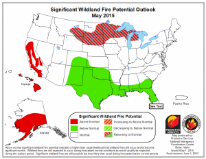 may 15 fire potential