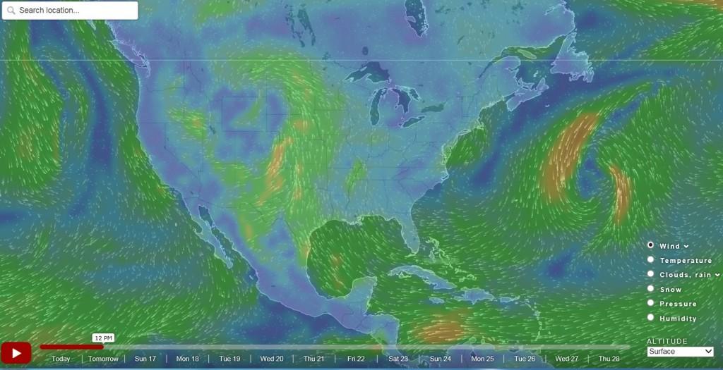Humidity Map Of Us Globalinterco - Us frontal boundary map