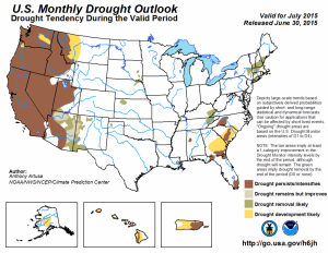 drought outlook july 2015