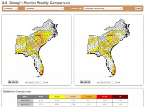 drought monitor comparison 8-6-2015
