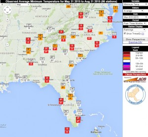 Source: Southeast Regional Climate Center Perspectives tool