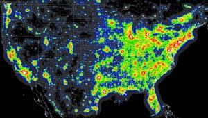 artificial light map