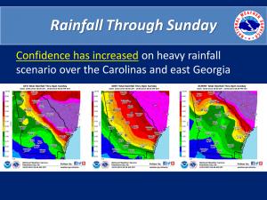 3 models rainfall