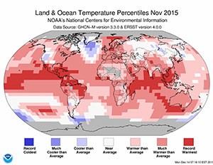 noaa global nov 2015 temp percents
