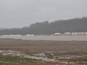 Train derailed in MO flood.  Source: AgWeb.