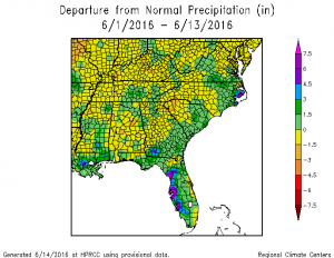 jun 16 month to date precip dep