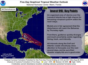 nhc update on invest 99l