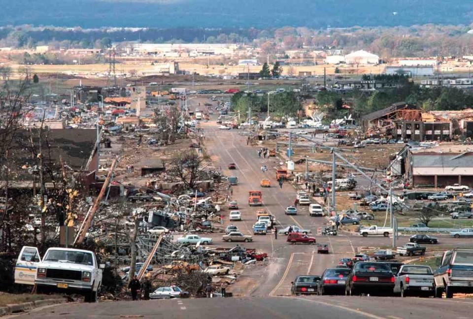 ... in the Southeast   Anniversary of the Huntsville AL tornado