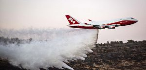 The 747 Supertanker helps to extinguish a forest fire which broke out last night near Nataf, outside Jerusalem on November 26, 2016. Photo by Hadas Parush/Flash90