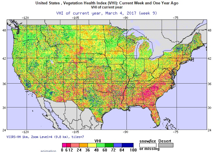 Climate And Agriculture In The Southeast NOAA Global Vegetation - Us vegetation map