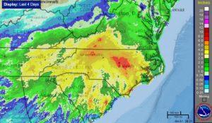 """Raleigh, N.C., swamped by biggest rain event since Hurricane Matthew"""