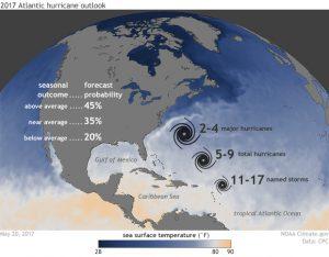NOAA: 2017 Atlantic hurricane season outlook