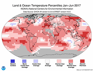 NOAA:  Globe had 2nd warmest year to date and 3rd warmest June on record