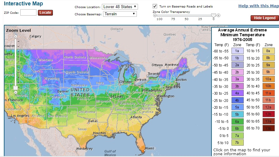 Plant Hardiness Zone Map Climate and Agriculture in the Southeast   New USDA GIS based  Plant Hardiness Zone Map