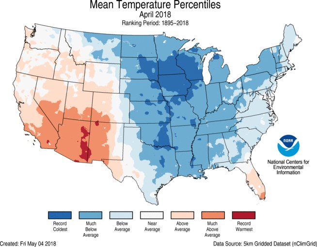 Climate and Agriculture in the Southeast | Coldest April for