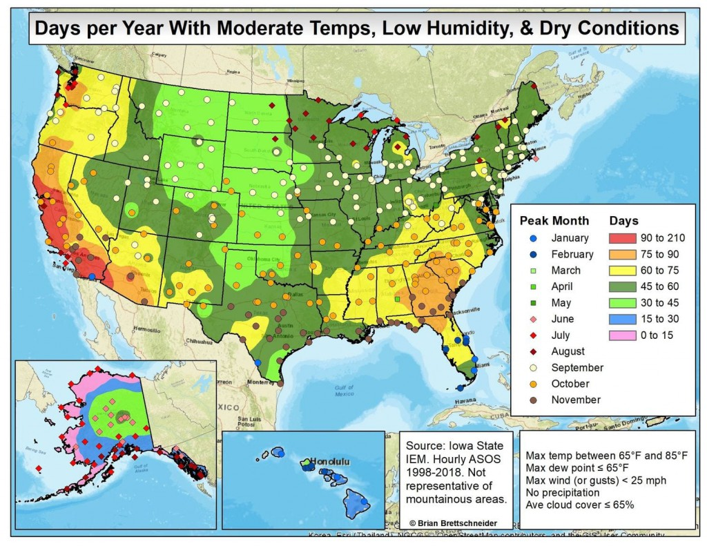 Climate And Agriculture In The Southeast Where To Find The United - Us-humidity-map
