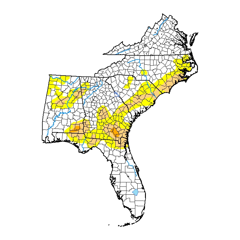Climate and Agriculture in the Southeast | Severe drought ... on interstate i-20, interstate 69 map alabama, highway map of alabama, interstate map of mississippi and alabama, i 20 map alabama, interstate 30 map alabama, interstate 49 map in scott county arkansas, i-84 map alabama, interstate 85 map alabama, interstate 90 in alabama, interstate highway map,