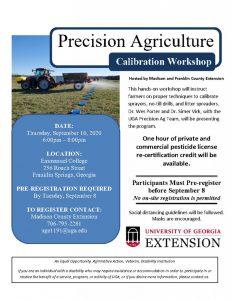 Precision Ag Calibration Workshop – Thursday Sept 10