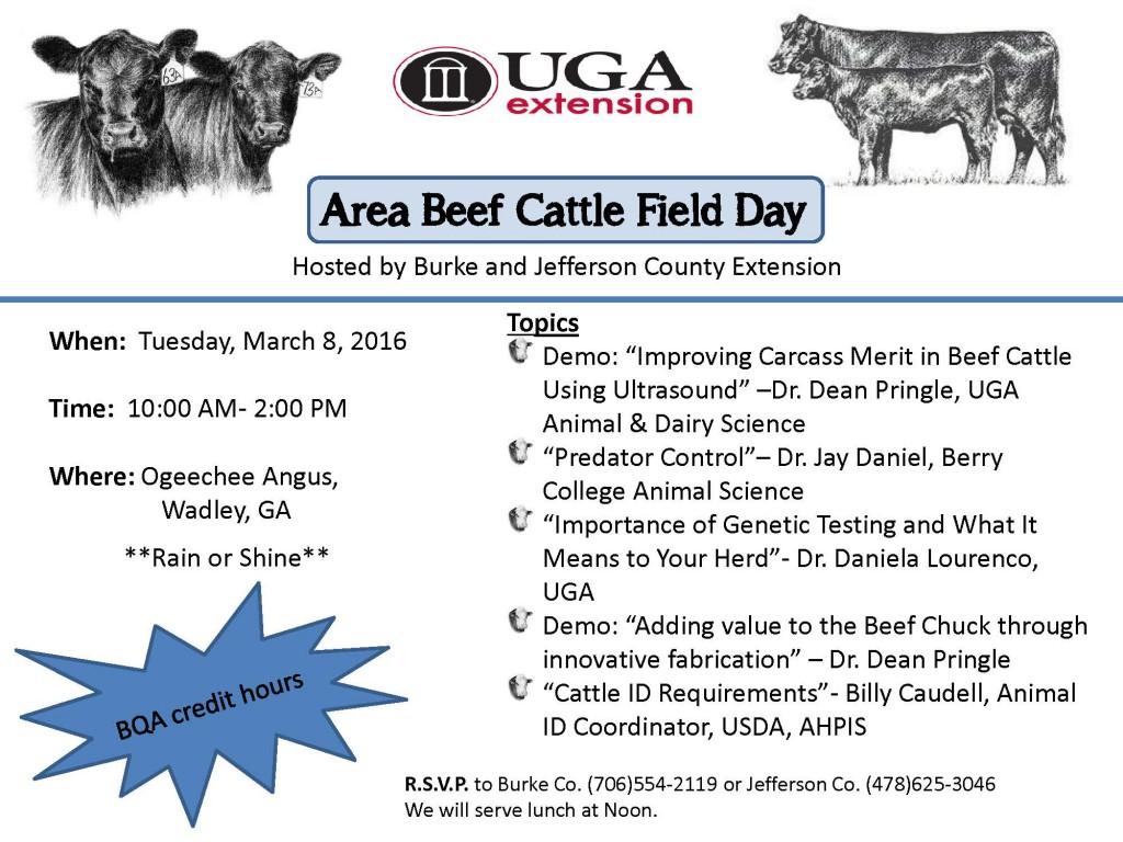 Area Beef Cattle Field Day 2016