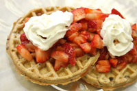 Strawberry Salsa on waffles