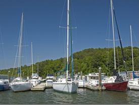 Sailboats at George Bagby Park