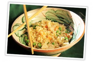 Fried rice dish