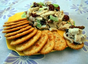 chicken salad with crackers