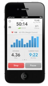 Showing activity data on the RunKeeper app