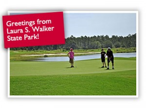 Golfers at Laura S. Walker State Park