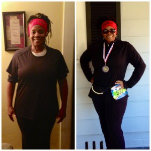 Talibah Muhammad before and after picture