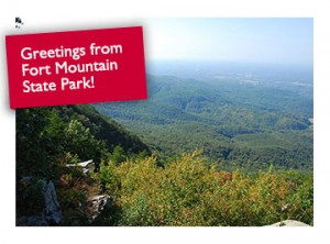 Fort Mountain State Park west overlook