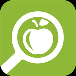 SparkPeople Nutition Lookup app icon of magnifying glass and apple