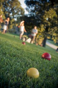 people playing bocce ball