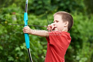 bow and arrow boy
