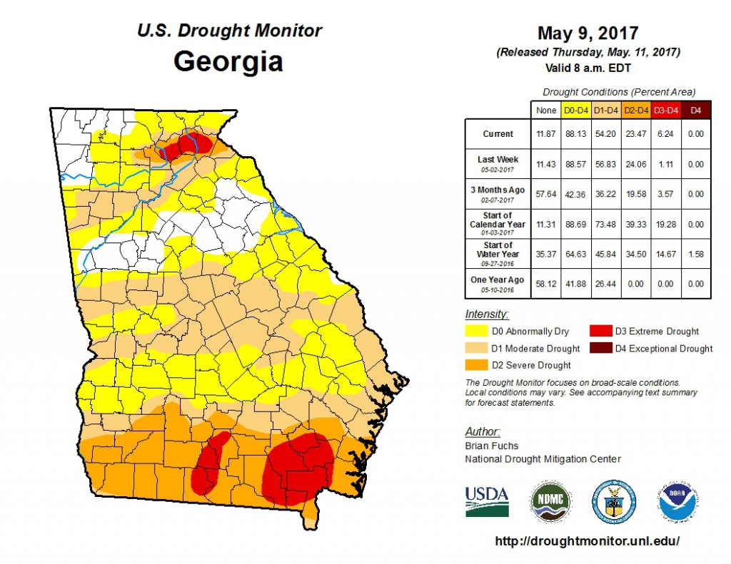 U S Drought Monitor For May 9 2017